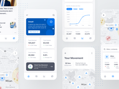 Contact Tracing App app ui design app ui health app health inspiration uidesign contact tracing app contact tracing covid19 coronavirus interaction design app design user interface figma app ux design design ui inspire ui design