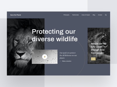 Save the Planet Website uidaily ui  ux uiux websites website concept web  design website design web design webdesign uidesign website prototype user interface interaction design figma ux design design ui inspire ui design