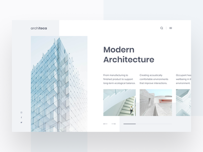 Architeca Website ui  ux architecture architect webdesigner website design web design webdesign website uiux uxui uidesign user interface interaction design figma app ux design design ui inspire ui design