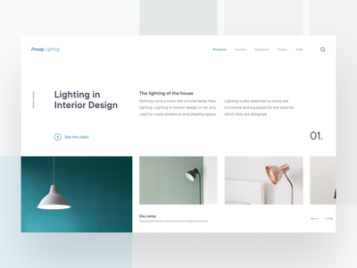 Proup Lighting Website lighthouse lighting webuiuxdesign webui website design web design webdesign web ui  ux uiux uidesign user interface website interaction design figma ux design design ui inspire ui design