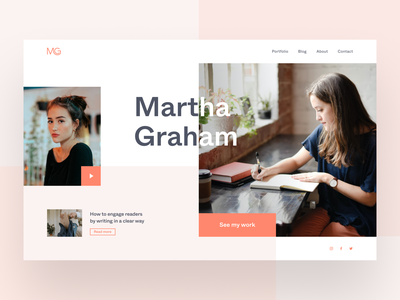 Martha Graham Copywriter Website uiux designer ui  ux website design webdesign web design web copywriter uiux design uiuxdesign uiux website uidesign user interface interaction design figma ux design design ui inspire ui design