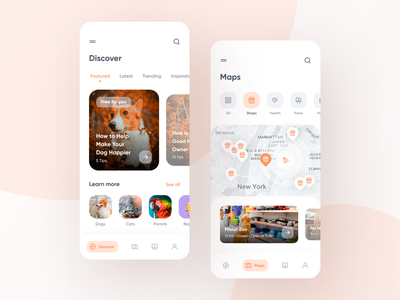 Cuddly - Pet Care App mobile app mobile ui design app uiux prototype product design product uidesign ui  ux app user interface ux design petstore pet care petshop pets pet design ui ui design