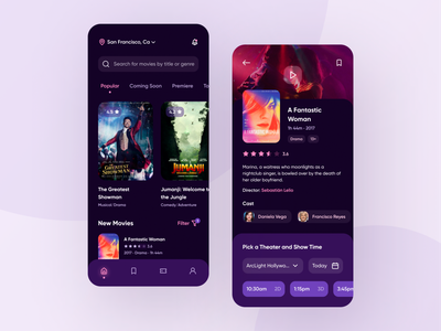 Movie App movie app film movie theater cinema mobile app design mobile ui mobile app app design interaction design uidesign uiux ui  ux user interface app figma ux design design ui ui design