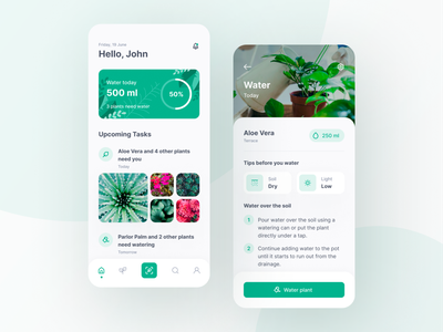 Plant Care App design app mobile application mobile app design plants ui  ux mobile app mobile ui plant app plant care plant app design uidesign user interface app figma ux design inspire design ui ui design