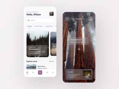 Forest Tree App forests mobile design design app uiux mobile app design mobile app mobile ui nature tree forest uidesign app design ui  ux user interface app figma inspire design ui ui design