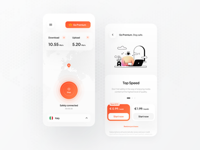 VPN App app figma ux design inspire design ui ui design