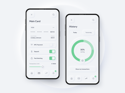 Payment App neumorphism modern design modern ui soft credit card money app fintech finance payment app softui ux interaction design prototype figma app ux design design ui inspire ui design