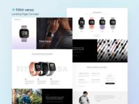 Fitbit Versa Landing Page