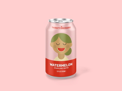 Sparkling Water: Watermelon portrait label packaging design package drink beverage sparkling water watermelon