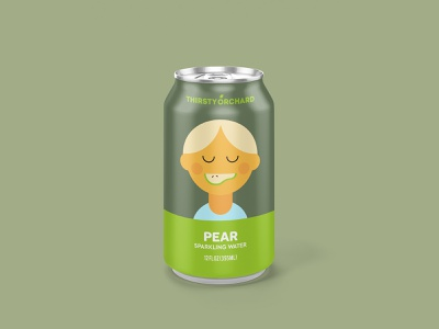Sparkling Water: Pear illustration vector illustration drink can beverage packagingdesign packaging slice pear