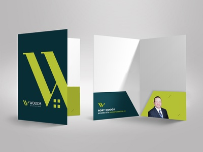 Realtor Presentation Folder folder house icon woods realtor real estate logo