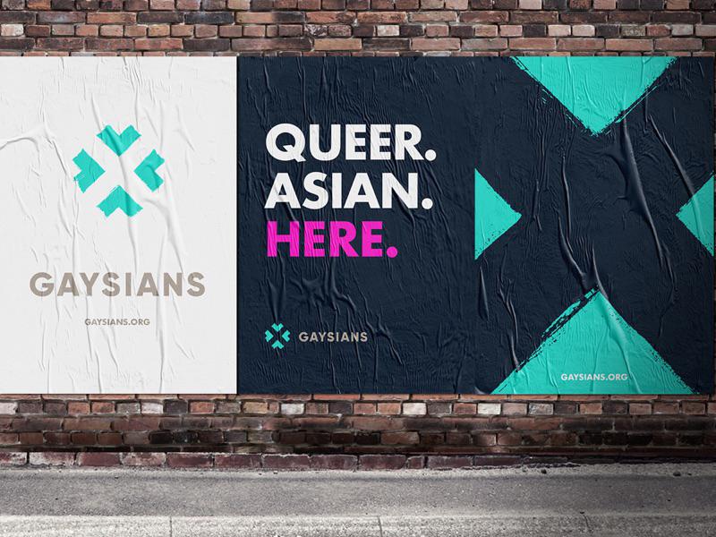 Gaysians Posters asian south asian london uk illustration branding graffiti icon logo lgbt gay gaysians