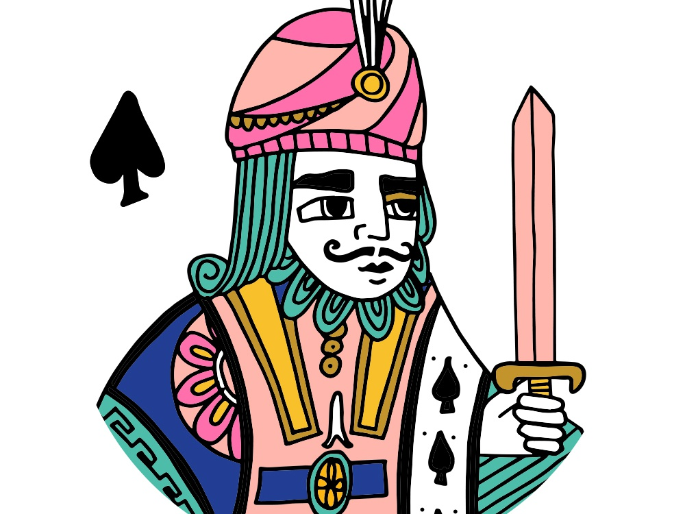King Of Spades By Jag Nagra Dribbble Dribbble