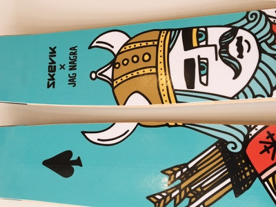 Ski illustration viking winter snow god of snow god ullr skis ski