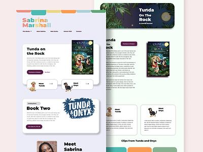 Children Book Author Bio Website jamaica jamaican colorful website landingpage dogs children reading book author