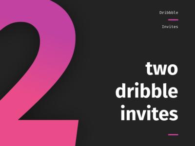 2 Dribbble Invites