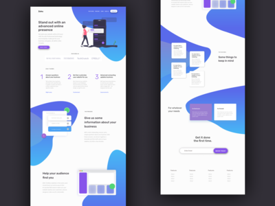Landing Page illustration wireframe ux  ui design sass landing page ux app product interface ui
