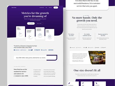Tech website website interface landing page ux visual design brand tech ui