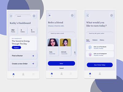 App Design white clean cards ui product app soft ui