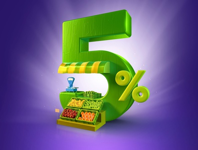 Agro Loans credit loans design bank finance money creative render illustration 3d
