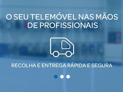Banner banner cellphone repair ui user interface blue