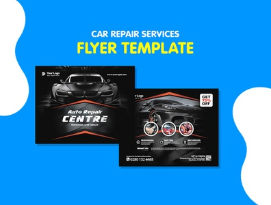 Auto Repair & Rent a Car Business Flyer Template