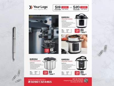 Product Sale Flyer Template / Cooker Ads