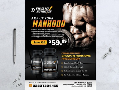Supplement Product Flyer