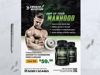 Food Supplement Product Flyer