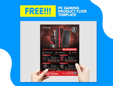 PC Gaming Product Catalog Flyer For Sale Promotion Template PSD