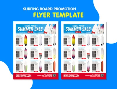 Surfing Board Product Catalog Flyer