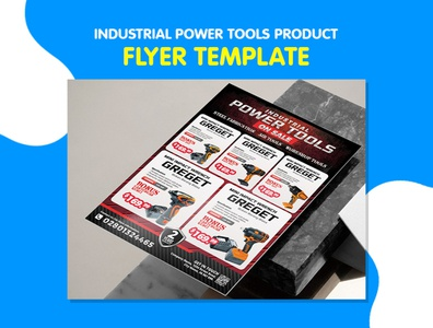 Industrial Power Tools Product Flyer Template