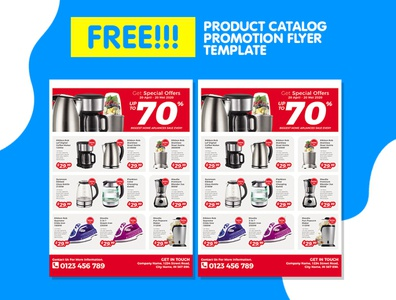 Home Appliances Product Catalog Flyer Template Promotion