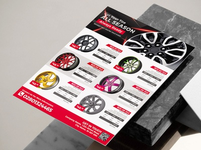 Car Wheel Product Flyer Template For Great Promotion flyer business corporate corporate business flyer advertisement