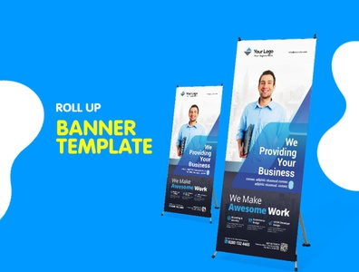 Corporate Roll Up Banner flyer business corporate corporate business flyer advertisement