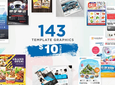 Graphic template ready to use,, 143 Asset to your work, promotio flyer business corporate corporate business flyer advertisement