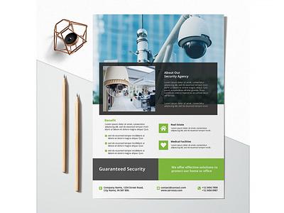 Printable Security Agency Flyer business flyer flyer design design branding advertising business corporate flyer corporate business flyer advertisement