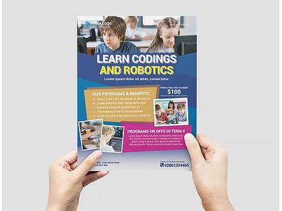 Printable Learn Coding Education Flyer business flyer flyer design design branding advertising business corporate flyer corporate business flyer advertisement
