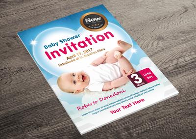 Baby Shower Flyer - Invitation Flyer