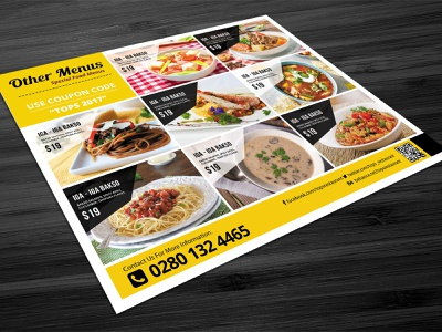Restaurant Menu - Food Menu Flyer vector trifold design trifold broshure restaurant menu restaurant psd trifold menu pizza pizza menu menu illustration food menu food elegant flyer business flyer corporate clean agency advertising advertisement