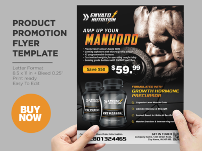 Supplement Product Promotion Flyer