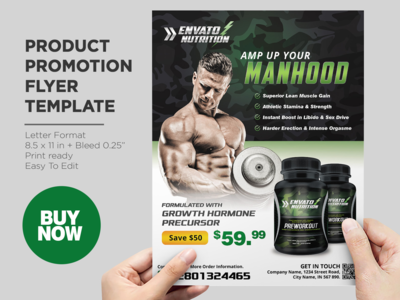 Nuttrition Product Promotion Flyer