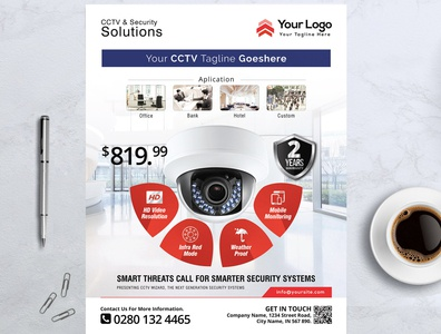 Product Flyer – CCTV Promotion Flyer Template
