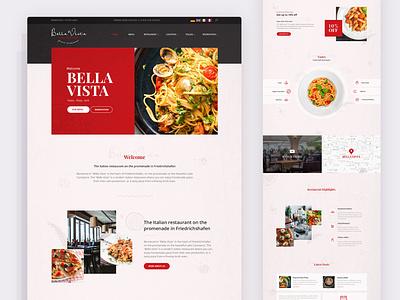 Restaurant website design ux ui home page webdesign web minimal creative restaurant food