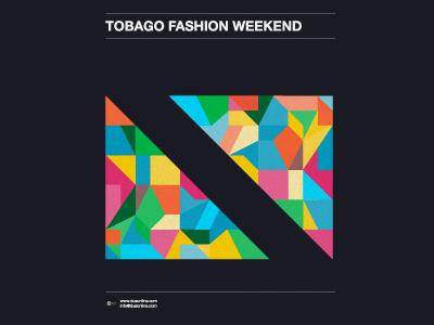 Tobago Fashion Weekend poster flag caribbean fashion event flyer
