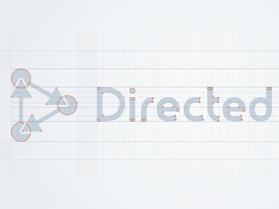 DirectedEdge gridwork logo brand identity typography