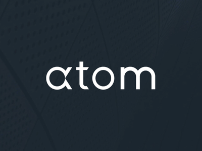 atom logos lettering logotype monochrome branding logo design logo