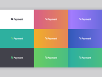 Payment branding grid design color icon identity branding logo