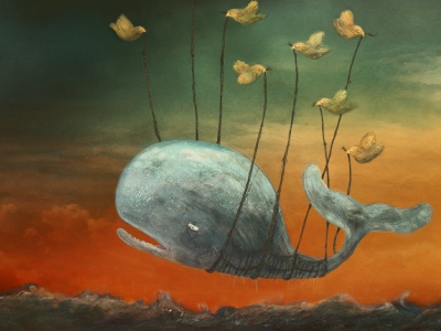 Fail Whale illustration illustration wacom painting wallpaper