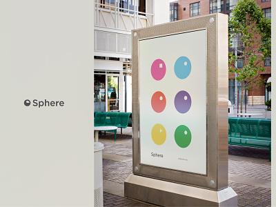 Sphere poster print poster color icon brand identity branding logo